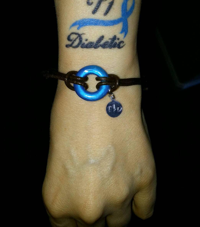 Diabetes bracelet type one diabetic or type 2 diabetes for Type 2 diabetes tattoo