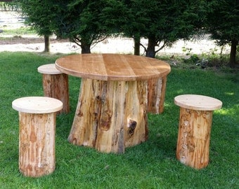 woodland hand crafted garden furniture set
