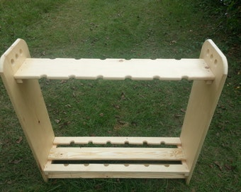 FREE SHIPPING! Billiard Cue Pool Stick Storage Rack 12, 18 or 24 Slots Hand Made U.S.A. !