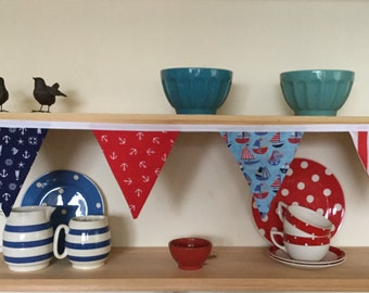 Nautical bunting in bright colours