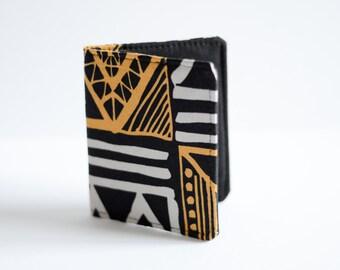 Bi-fold Wallet - Slim Wallet - Wallets - Small Wallets - Unisex Wallets - African Print Wallet - Black and White Wallet - minimalist wallet