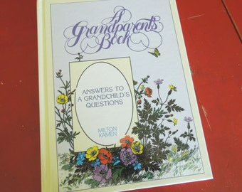 Vintage book Journal diary - gift for Grandparents book - Journal keepsake memory life history book - new Grandmother gift
