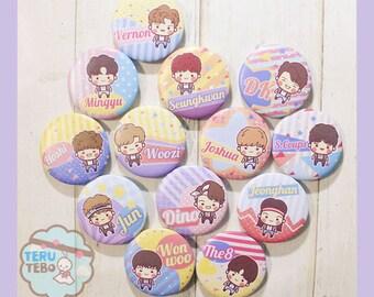SEVENTEEN kpop - Very nice / aju nice / seventeen pins / pin buttons / button pins