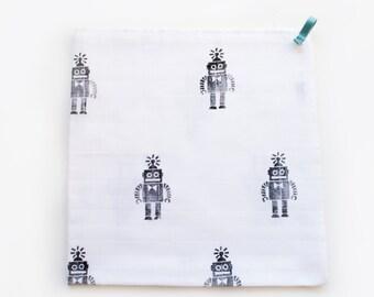 Hydrofiele doek 'Robot'