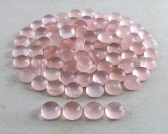 8MM round smooth polish pink quartz 20 pieces lot