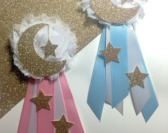 Twinkle Twinkle Little Star Baby Shower Corsage- Guest Corsage- Guest Pin- Gold or Silver