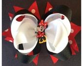 Mini Mouse Hair Bow, Custom Mini Mouse Hair Bow, Red Mini Mouse Hair Bow