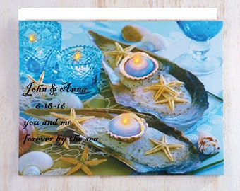 Personalized Beach Sea Seaside Lighted Canvas Wedding decoration Wedding gift Favor Beach chic