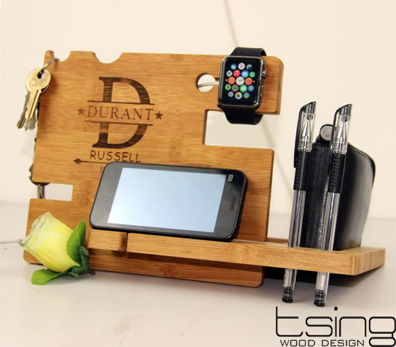 Custom Wooden Dock And Charging Station For Iphone By