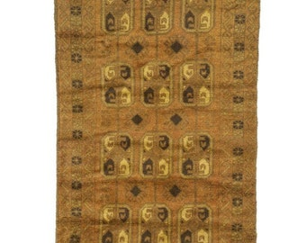 3×5 Overdyed Vintage Tribal Gold Rug woh-2622