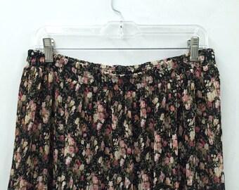 Vintage 90s Floral Maxi Skirt