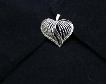 Handmade Sterling silver heart pendant