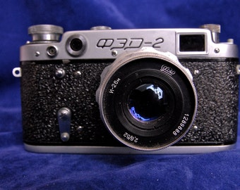 Fed 2 Vintage Russian 35mm Film Range Finder Camera Collectable Photography 50mm Lens
