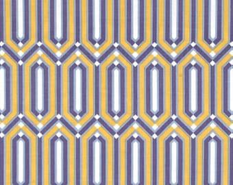 Atrium Crystaline Slate Geometric Gemstone Cotton Fabric by Joel Dewberry for Free Spirit Fabrics per fat quarter per metre