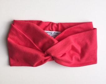 Fiesta Red Jersey Turban Headband