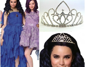 Evie Blue Dress Disney Descendants Crown, Evie Descendants Tiara , Evie Blue Dress Crown, Evie Headpiece ,Evie Blue Dress costume Headpiece