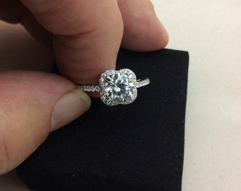 CZ Diamond engagement ring