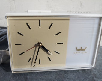 Vintage 1962s Westclocks Electrics illuminated alarm clock