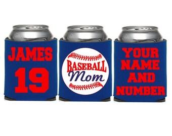 Baseball Mom KOOZIE® or Can Holder, Custom KOOZIE®, Personalized Can Holders