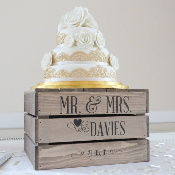 personalised rustic wedding cake stand vintage wedding wooden. Black Bedroom Furniture Sets. Home Design Ideas