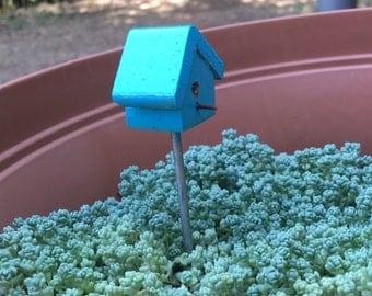 Blue Miniature Birdhouse