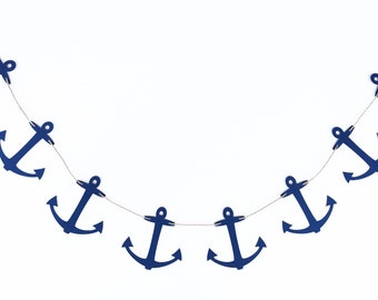 Anchors Garland | Anchor Banner | Anchor Decoration | Anchor Decor | Nautical Garland | Nautical Banner | Nautical Decor | Nautical Birthday