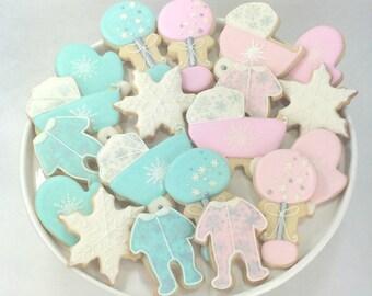 Winter Baby Shower Cookies - 1 dozen
