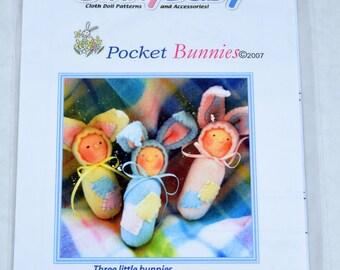 Dinky Baby Pattern 033 - Pocket Bunnies - 5 inch dolls - Old Version