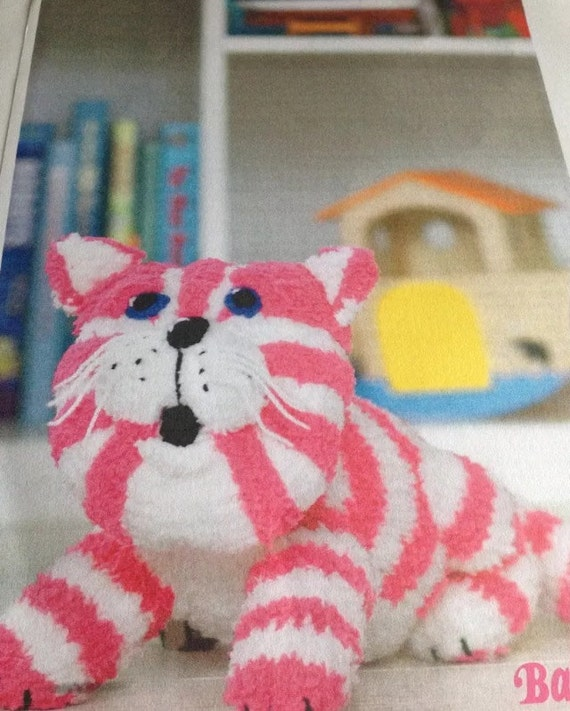 Knitting Pattern For Bagpuss the saggy old by GiftsFromCambridge
