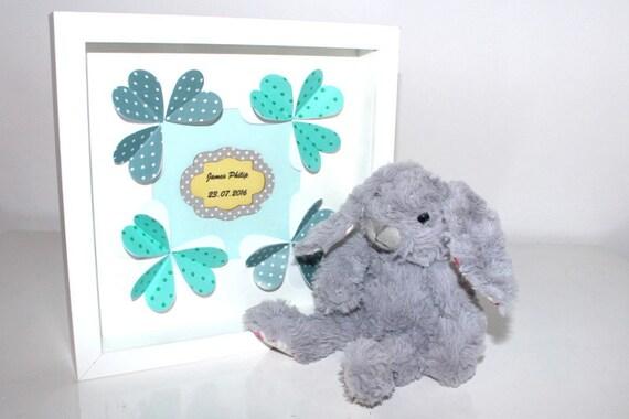 Personalised framed wall art. Personalised gift. Baby Boy. Baby shower. Boy nursery. Blue Yellow Beige. Christening. 1st Birthday.