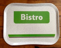 Vintage Bistro Meal Tray Cafeteria