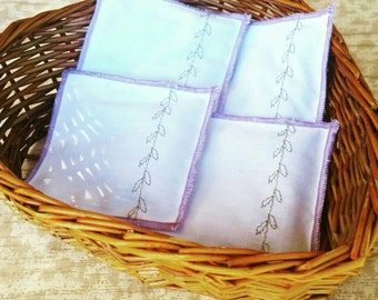 Lavender Sachet | Set of 4 | Eco Friendly Repurposed Fabric | Lavender Fragrance | Freshen Clothes and Books in Storage and Moving