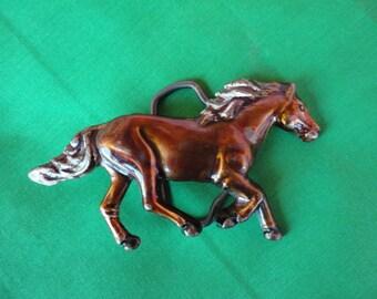 Vintage Wild Mustang Belt Buckle