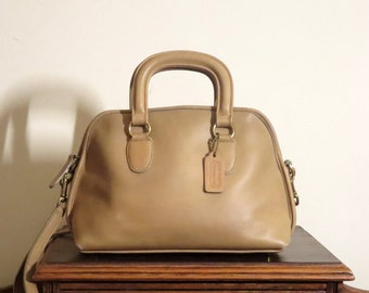 Coach Baxter Bag British Tan (Tabac?) Leather Satchel Duffel With Optional Crossbody Strap- Great Condition -U.S.A.