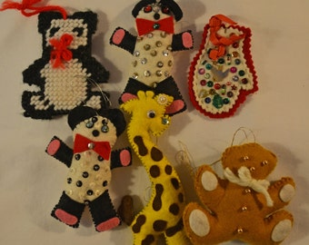 Hand Crafted Felt Ornaments