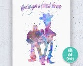 Woody and Buzz Toy Story Quote Disney Print Watercolor Printable Toy Story Art Toy Story Poster Toy Story Printable Toy Story Decor Disney 8