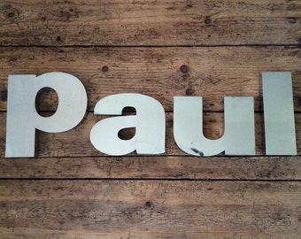 Old Shop Display Letters Spelling PAUL, Reclaimed Letters, Salvage, Shop Display, Home Decor, Wall Art