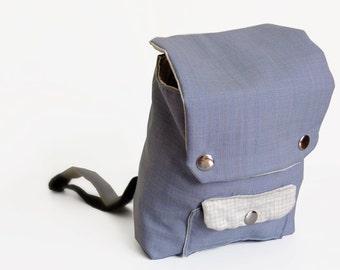 Mini Backpack - Grey Blues