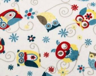 BTHY Adornit Owls All Around Cuddle Dusk Minky Owl Fabric Yardage by Shannon Fabrics By The Half Yard Fabric