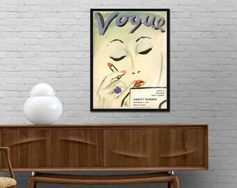 Vogue cover print Vintage poster 1933 Vogue magazine print Retro journal wall art Modern design decor Best price canvas art