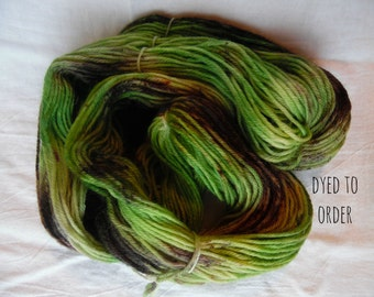 Camo - Hand-Dyed / Hand-Painted Yarn - Superwash Merino Wool - Dyed To Order