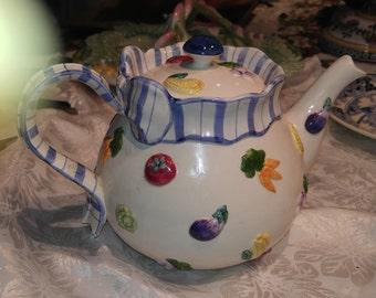 Fitz & Floyd Teapot