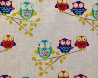 Fitted Crib Sheet - Owls