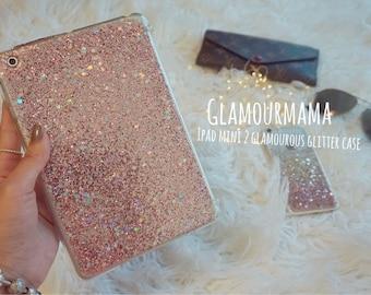 pink glittery sparkle ipad mini case for ipad mini 1/2/3