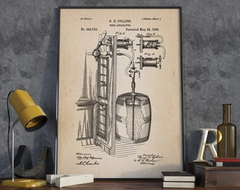 Beer Inventions Wall Art Poster, Beer Patent Wall Art, Beer Decor - DA0308