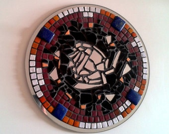 """Mural creation in mosaic """"INTUITION"""" - Mosaïc wall creation - diam. 25 cm"""