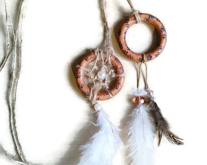 Festival white dreamcatcher necklace /long necklace/ boho necklace/ dreamcatcher necklace/ necklace/hippie necklace/burned wood necklace