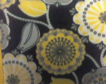 black and yellow fun floral