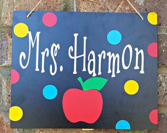 Teacher Signs - Teacher Door Signs - Personalized Teacher Sign - Teacher Appreciation Gift