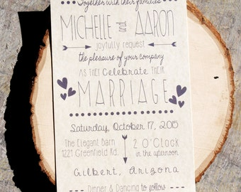 Wedding Invitation - Country Wedding Invitation